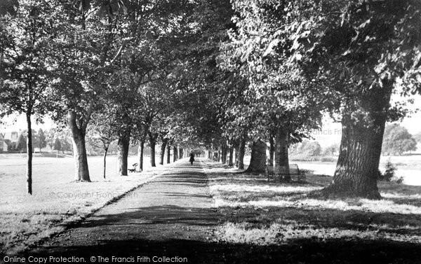 Photo of Builth Wells, Riverside Walk c.1950