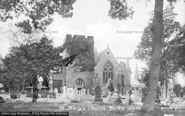 Photo of Builth Wells, St Mary's Church c.1935