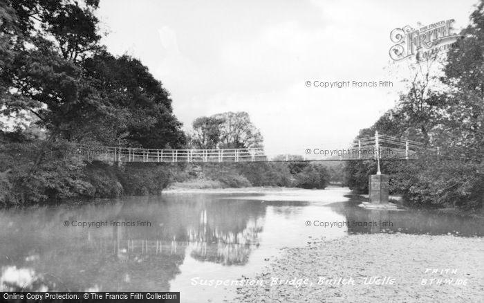 Photo of Builth Wells, Suspension Bridge c.1955