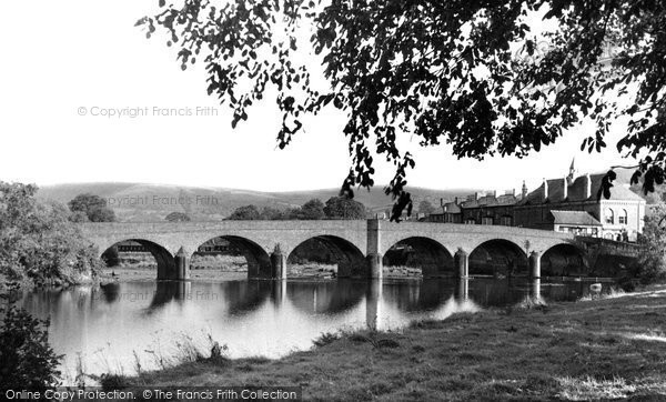 Photo of Builth Wells, The Bridge c.1955