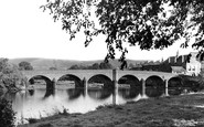 Builth Wells, The Bridge c.1955
