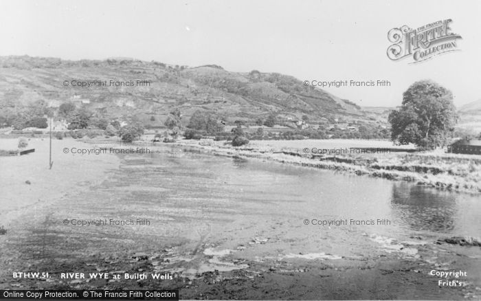 Photo of Builth Wells, The River Wye c.1935
