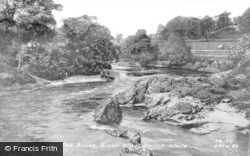 Builth Wells, The Rocks, River Wye c.1955