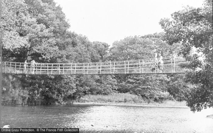 Photo of Builth Wells, The Suspension Bridge c.1950