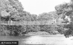 Builth Wells, The Suspension Bridge c.1950