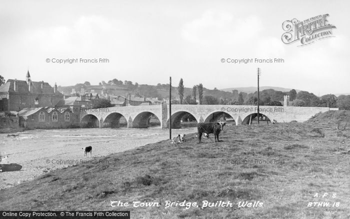 Photo of Builth Wells, The Town Bridge c.1935