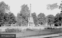 Builth Wells, The War Memorial c.1955