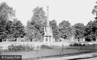 Builth Wells, the War Memorial c1955