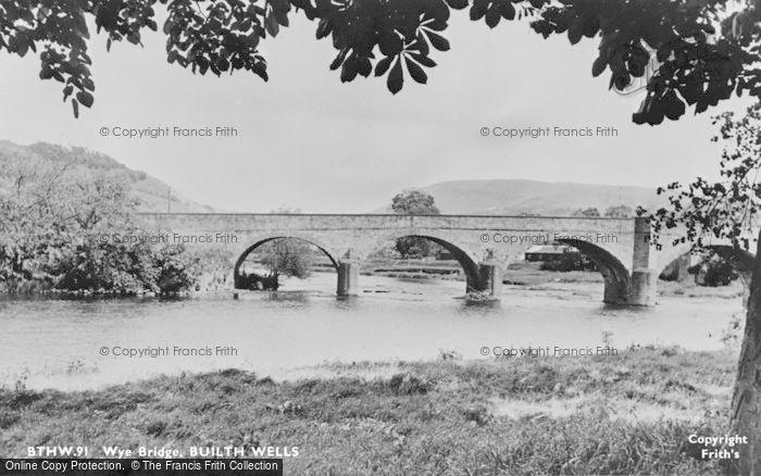 Photo of Builth Wells, The Wye Bridge c.1955