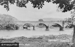Builth Wells, The Wye Bridge c.1955