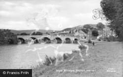 Builth Wells, Wye Bridge c.1935