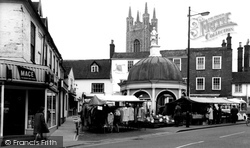 Bungay, Butter Cross And Market c.1965