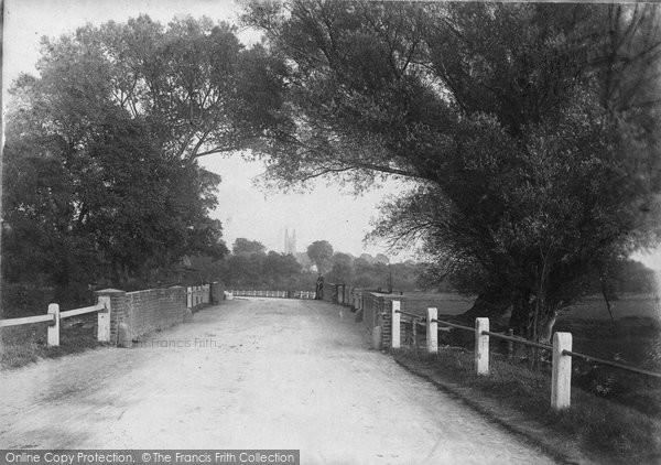 Bungay, Earsham Dam c.1900
