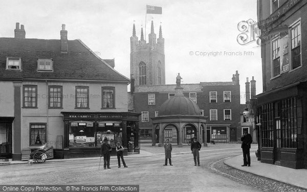 Bungay, Market Place And Butter Cross c.1900