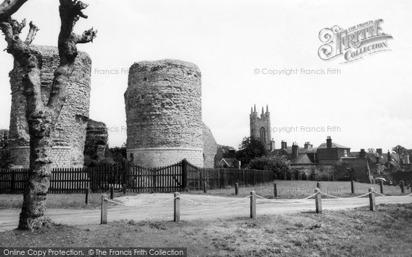 Bungay, The Castle And Church c.1960