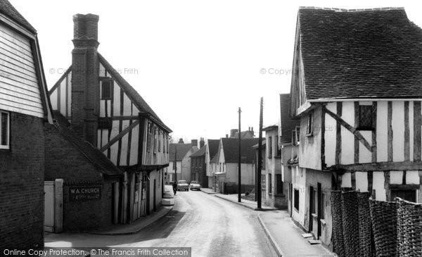Bures, High Street c1965