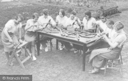 Burford, Council School, Senior Group Making Musical Pipes c.1935