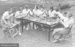 Council School, Senior Group Making Musical Pipes c.1935, Burford