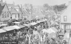 Burford, Hiring Fair, High Street c.1895
