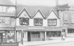 Burford, Lomas' Butcher's Shop, High Street c.1900