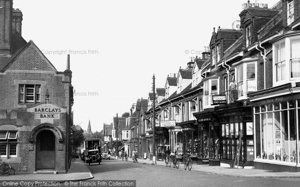 Burgess Hill, Church Road 1950