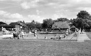 Burgess Hill, St John's Park and Swimming Pool c1960