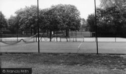 Burgess Hill, St John's Park Tennis Courts c.1960