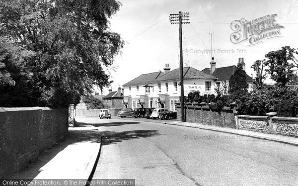 Photo of Burgess Hill, The Kings Head, London Road c.1955