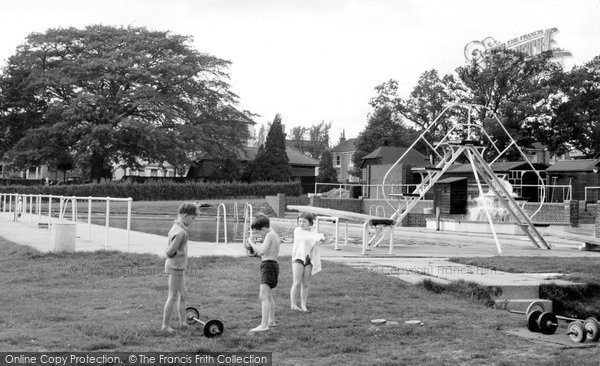 Burgess Hill, The Swimming Pool c.1960