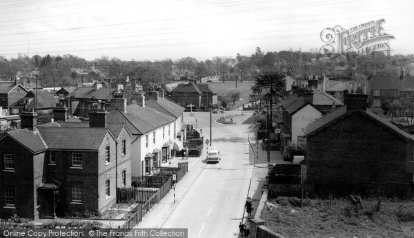 Burgess Hill, Worlds End From Station c.1965