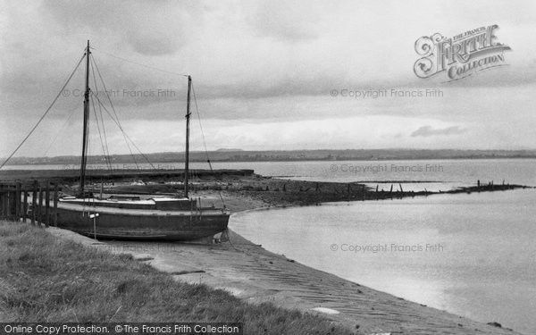 Photo of Burgh-By-Sands, towards Scotland across the Solway Firth c1950, ref. b709010