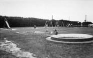 Burgh Castle, Cherry Farm Caravan Park, Children's Playground And Tennis Courts 1968