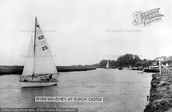 Burgh Castle, River Waveney 1968