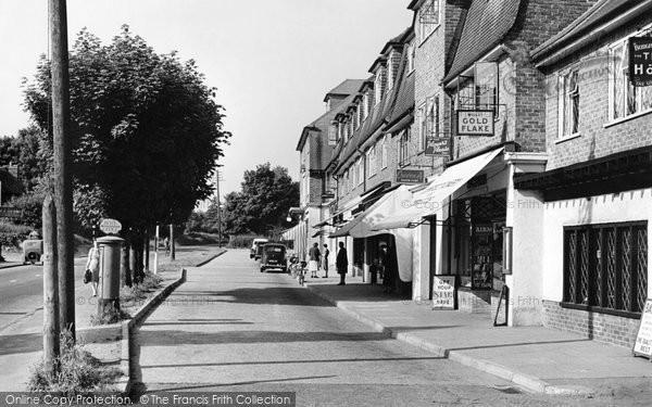 Burgh Heath, The Parade c.1955