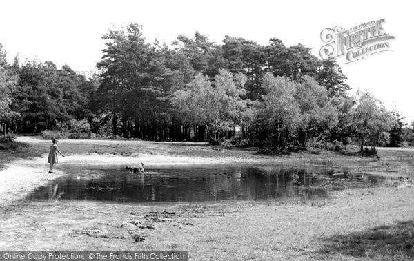 Burghfield Common, the Fishpond c1955