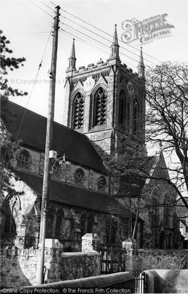 Burham, St Mary's Church c.1955