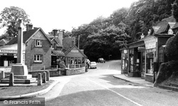 Burley, Cross And Post Office c.1960