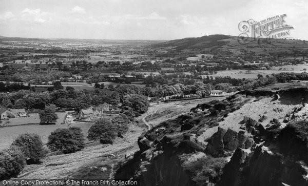 Burley In Wharfedale, From Burley Woodhead c.1955