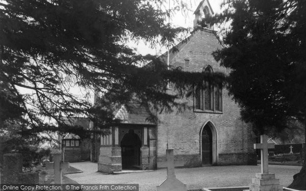 Photo of Burley, St John the Baptist Church c1955