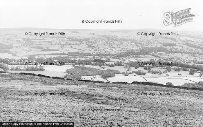 Photo of Burley Woodhead, Manor Park From The Moor c.1955