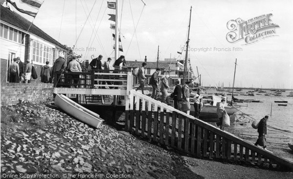 Burnham On Crouch, Royal Burnham Yacht Club Landing Stage c.1958
