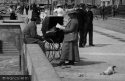 Burnham-on-Sea, A Family On The Promenade 1913