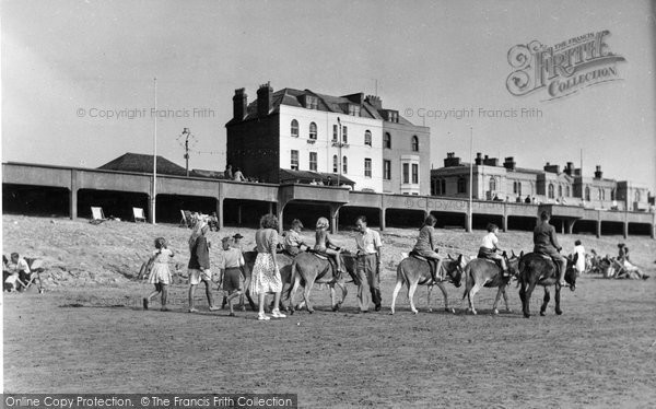 Burnham On Sea, Donkeys And Sands c.1950