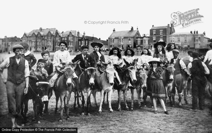 Photo of Burnham On Sea, Donkeys On The Sands 1907