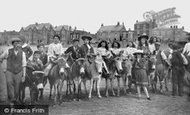 Burnham-on-Sea, Donkeys On The Sands 1907