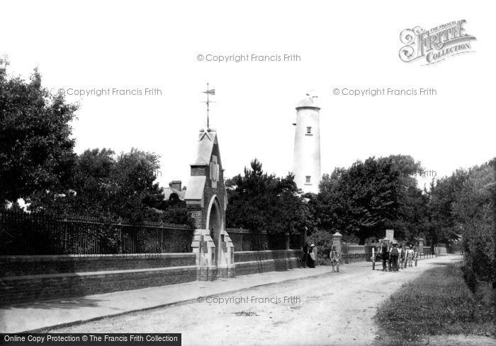 Burnham On Sea, Lighthouse And Ellen's Cottage 1887