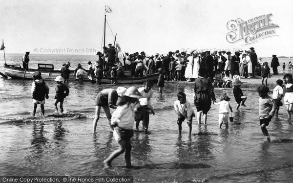"Burnham On Sea, ""Paddling"" 1918"