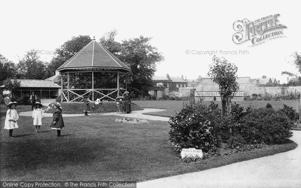Burnham On Sea, Public Gardens 1907