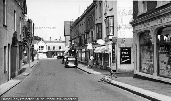 Burnham On Sea, Regent Street c.1955
