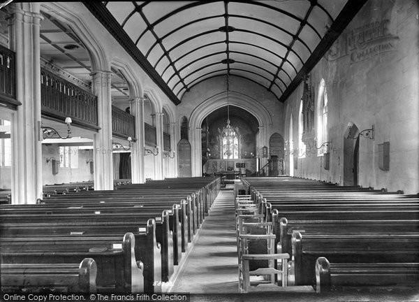 Burnham On Sea, St Andrew's Church Interior 1907